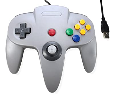 N64 Gray Usb To Pc/mac Classic Gamepad Controller?s For Nintendo 64