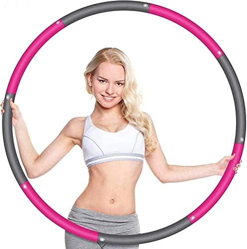 mjj Hula Hoop 2 4 libras 8 secciones Hula Hoops para adultos pérdida de peso 37 4 pulgadas perfecto Hula Hoop para hacer ejercicio con mini cinta métrica