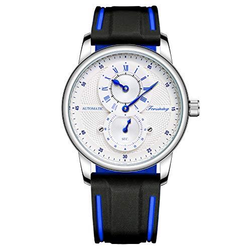 Modische Herren-Armbanduhr mit mehreren Zifferblättern, Silikonband, lässig, Sportuhr, weiß, Band