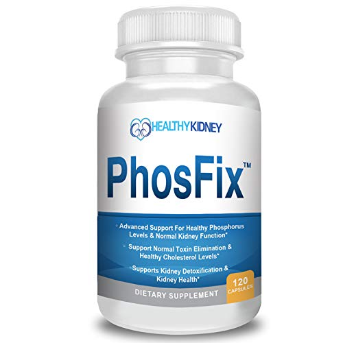 PhosFix 120 Pills Phosphorus Binder with Chitosan for Supporting Normal Phosphorus Levels, Kidney Cleanse and Kidney Health. Renal Supplement Optimal Health