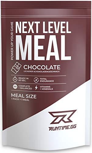 Runtime Meal - Chocolate   Vollwertiger Mahlzeitersatz, lange Sättigung & Leistungsfähigkeit   24 Vitamine & Mineralien   1 Portion - 150g
