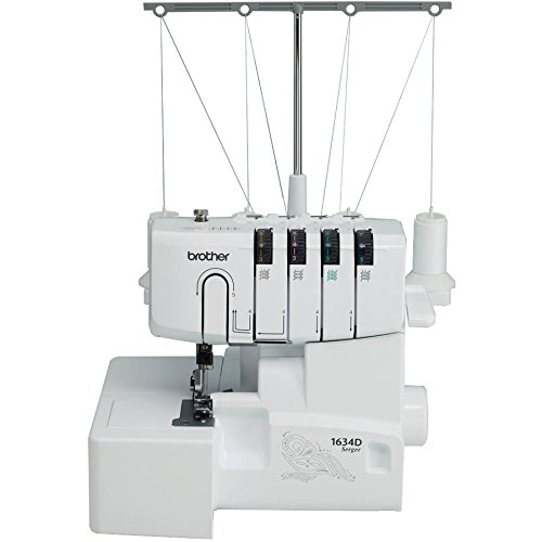 Brother 1634D 3 or 4 Thread Serger with Differential Feed, Soft Cover