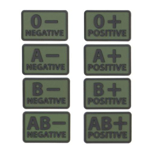 Helikon Blut Patch Set von 2 Oliv Grün A+
