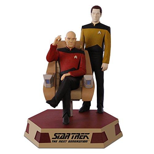 Hallmark Keepsake 2017 STAR TREK: The Next Generation Captain Jean-Luc Picard and Lieutenant Commander Data Sound Christmas Ornament