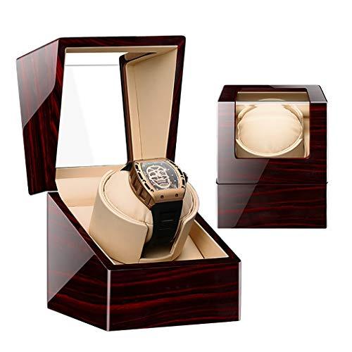 Caja Giratoria para Relojes Caja de Caja de Madera/de Cuero de Lujo de la Caja de presentación de la devanadera del Solo Reloj, Pintura de Piano, Conveniente for Las señoras y la muñeca de los hombr