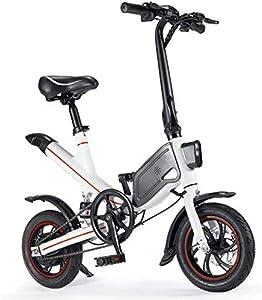 """OUXI Bici Elettriche per Adulti, Ebike con 250w 7,8ah 36v 12"""" Ruote Leggero Bicicletta Pieghevole per Uomo Sportivo Fitness All'Aperto"""