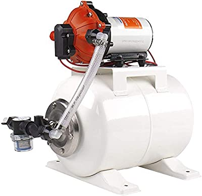 SEAFLO Water Pump and Accumulator Tank System - 12V, 5.5 GPM, 60 PSI, 2 Gallon Tank
