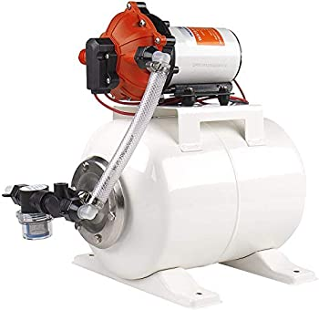 SEAFLO Water Pump and Accumulator Tank System - 12V 5.5 GPM 60 PSI 2 Gallon Tank
