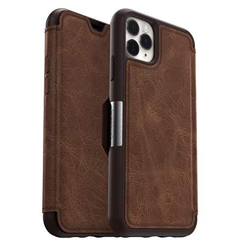 OtterBox für Apple iPhone 11 Pro Max, Premium Folio-Schutzhülle aus Leder, Strada Serie, Braun