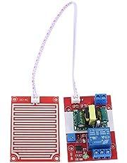 MEROURII Módulo de Sensor de Gotas de Lluvia de 220 V, Controlador de Gotas de Lluvia Sensor de Gotas de Lluvia Humedad de La Superficie de La Hoja Interruptor de Agua para Monitorear Varios Climas
