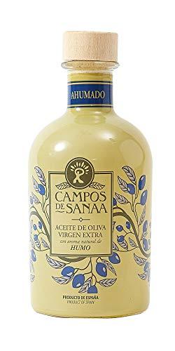 CAMPOS DE SANAA .- Aceite de oliva Virgen Extra con aroma natural a Humo de Roble (250ml).