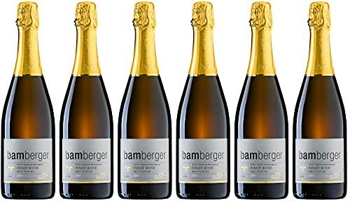 Wein- und Sektgut Bamberger Pinot Rosé Sekt PRESTIGE 2016 Brut nature (naturherb) (6 x 0.75 l)