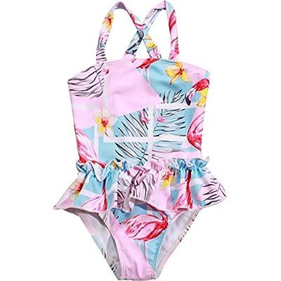 Macool Girls Swimwear Toddler Kids Bathsuits One Piece Baby Beach Swimsuit