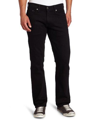 Levi's 00514-0211 Jeans, Nero – Elasticizzato, W32 / L32 Uomo
