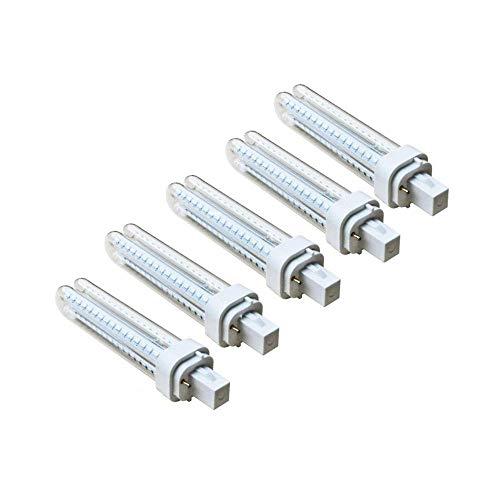 Pack 5 Bombillas Aigostar 002793 LED PLC 2U 11W Bombilla LED Maiz G24 6400K [Clase de eficiencia energética A+]
