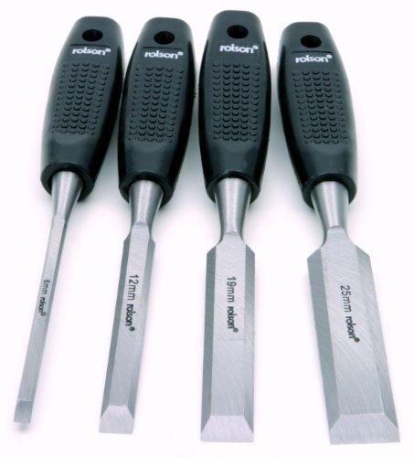 Rolson 56159 - Set di 4 scalpelli da legno