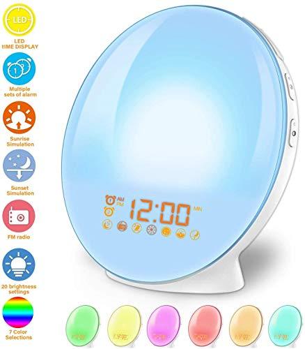 imoebel LED Wake-up Licht, Wake-up Light, Lichtwecker, Digitaler...