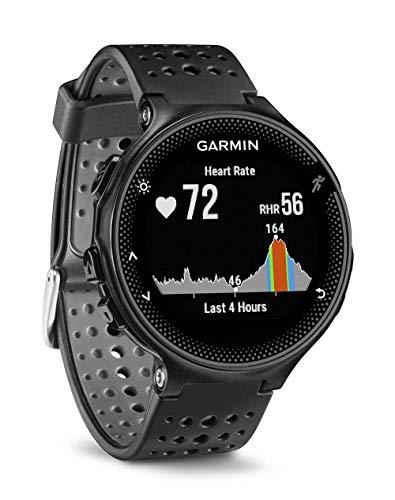 Garmin Forerunner 235 GPS Sportwatch con Sensore Cardio al Polso e Funzioni Smart, Cinturino in silicone, Nero/Grigio