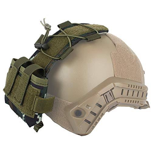 WTZWY Tactical Helmet Pouch MK2 Battery Box Counterpoids Pouch Remote Battery Helmet Accessory Storage Bag with Hook and Loop pour la Chasse au Paintball,TC