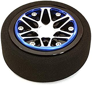 Integy RC Model Hop-ups C26898BLUEBLACK Billet Aluminum T4 Steering Wheel for Futaba 3PV 4PL S 4PV 4PX 4PX R 7PX Radios
