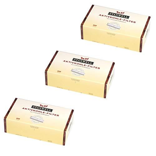 Stanwell Aktivkohle-Filter Patentiertes Filtersystem 600 Stück Pfeifen Pfeifenfilter 9mm