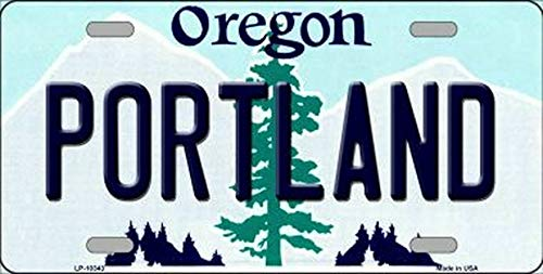 TammieLove New License Plate portland oregon state background novelty License Plate Sign 15x30 CM