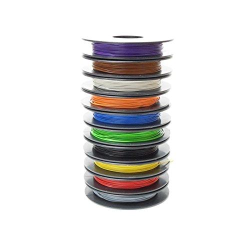 YV Schaltdraht-Sortiment, 0,5mm, 10x25m Spulen, 10 Farben