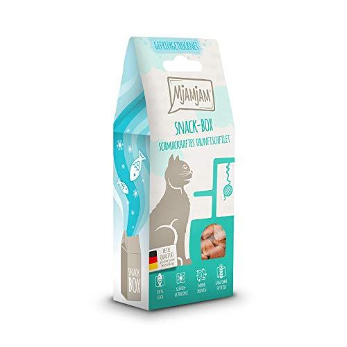 MjAMjAM - Premium Snackbox für Katzen - schmackhaftes Thunfischfilet, gefriergetrocknet, 1er Pack (1 x 35 g) 33304