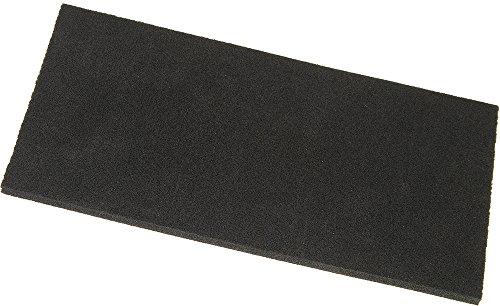 Haromac 02305210 Ersatzbelag für Kunststoffreiber, Zellkautschuk, 280x140x10mm, schwarz