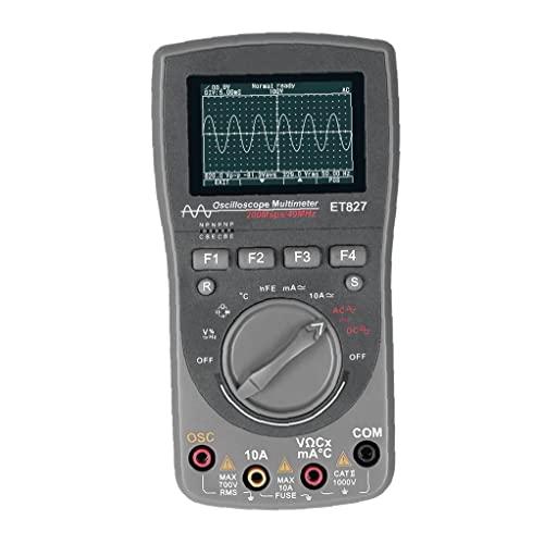 Multímetro de osciloscopio digital ET827 2 en 1 forma de onda Multímetro inteligente gris