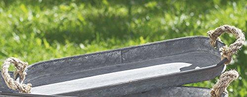 Homestyle & more Untersetzer Tablett Carlson Zink grau 51x14x3,5cm