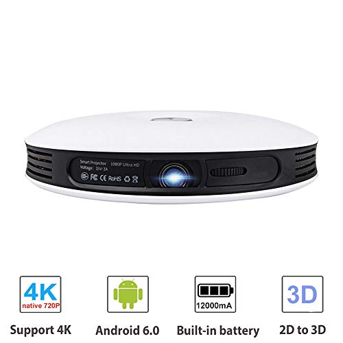 Mini 2D naar 3D DLP-projectorgegevens tonen Android Full HD 4K video wifi Bluetooth HDMI Portable Home cinema Beamer voor/Smartphone/PC/TV Box/Laptop