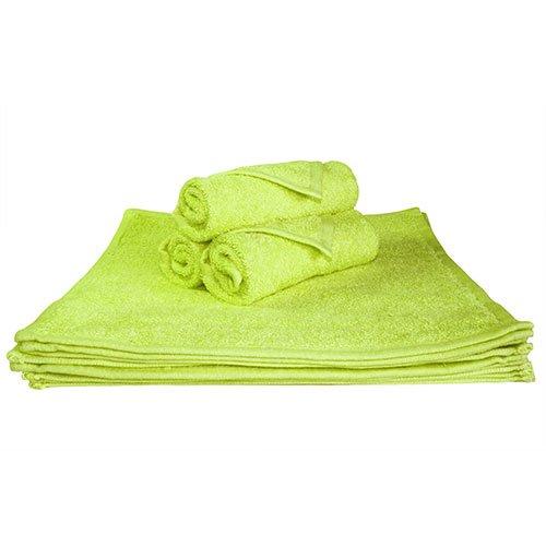 Super absorbantes, épais et moelleux Serviette de Visage – Idéal pour la maison ou Spa, B & B, à l'hôtel et Hôtel Utilisation – 500 g/m² – 100% coton – 30 cm x 30 cm – Vert anis