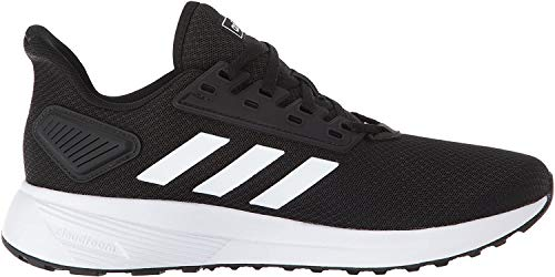 adidas Men's Duramo 9 Running Shoe, Black/White, 11 M US