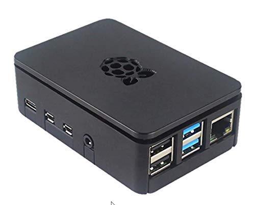 ITSTUFF Raspberry Pi 4 Premium ABS Kunststoff Box Schwarz Schutz Gehäuse Hülle für Raspberry Pi 4 B