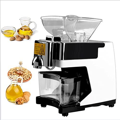 Prensas de aceite automático para el hogar, Máquina de prensado en caliente en frío inteligente, 550W Peanut Walnut Fryer Presser comercial, usable