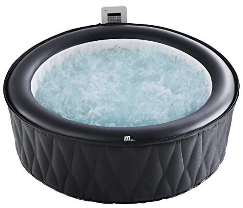 MSPA Mont Blanc Aufblasbarer Whirlpool, tragbar, 930 Liter, für 6 Personen, für den Garten, selbstaufblasend, kein Werkzeug nötig, 204 x 204 x 70 cm