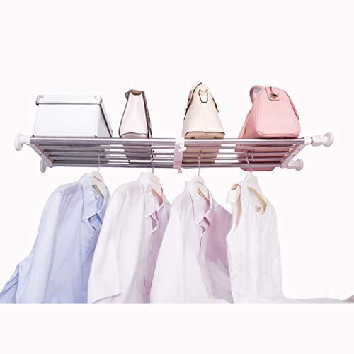 Hershii Spänningshylla expanderbar stång garderob system slitstark klädhängare justerbar gör-det-själv förvaring organisering skohylla