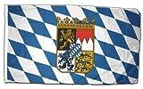Fahne Flagge Deutschland Bayern mit Wappen 30 x45 cm