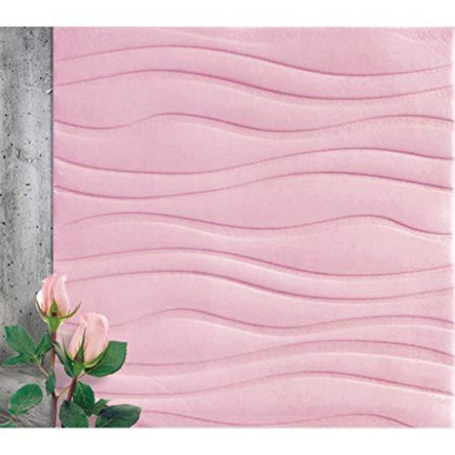 3D Wandaufkleber aus Backstein, selbstklebende Tapete, DIY abnehmbare mehrfarbige Tapete, schalldämmende selbstklebende Tapete, 60 * 60CM (10 Stück) (Color : D)