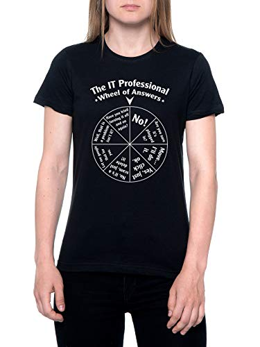 The It Professional Wheel of Answers Camiseta Mujer Negra T-Shirt Women's Black