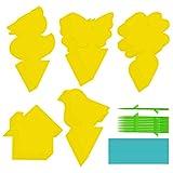 Jzszera 90 piezas de tablas amarillas trampas para moscas trampa amarilla pegatinas amarillas para mosquitos de hongos, pulgones, trampas de insectos, trampas adhesivas