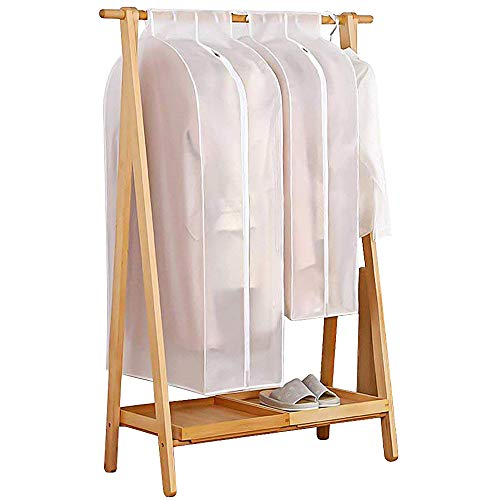 KONKY Clothes Cover Protector, Dust-proof & Breathable Garment Covers Clothing Storage Bag with Sturdy Full Zipper for Closet Storage Suits, Shirts, Dresses and Coat - Medium (19.6*11.8*41.3 Inch)
