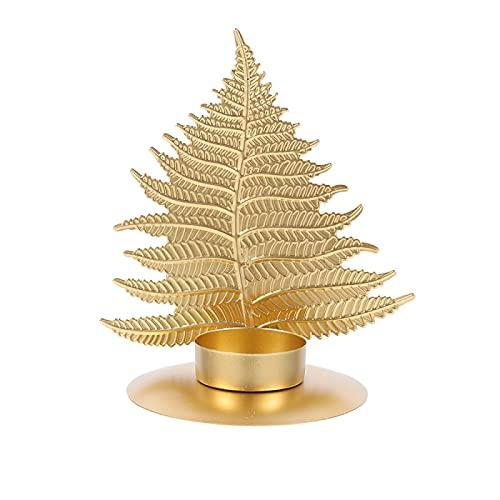 Candelabro de metal dorado 12* 14 cm creativo hierro titular de vela estilo nórdico decoración del hogar (dorado)