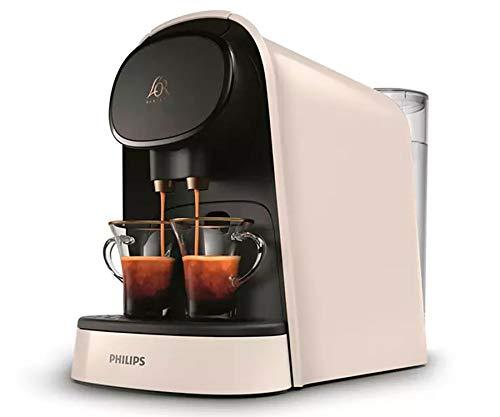 Philips Barista Cafetera Compatible con Cápsula Individual o Doble, 19 Bares Presión, depósito 1 L, Incluye Kit de degustación, Color Blanco