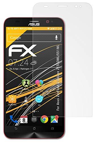 atFolix Panzerfolie kompatibel mit Asus ZenFone 2 Deluxe ZE550ML/551ML Schutzfolie, entspiegelnde & stoßdämpfende FX Folie (3X)