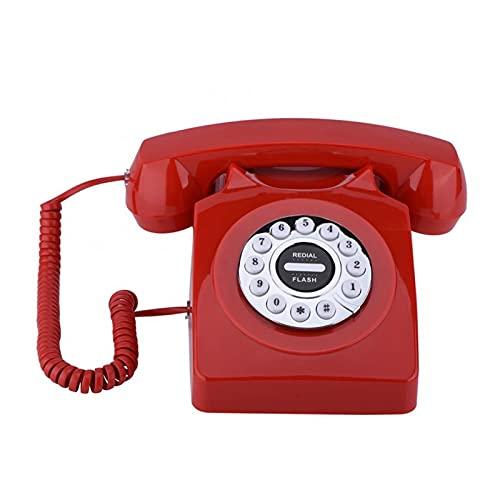 BTMING Teléfono Retro Teléfono Vintage Antiguo Números Teléfono Almacenamiento Clear Sound Retro Teléfono Retro para el hogar Oficina Negocio Telefono