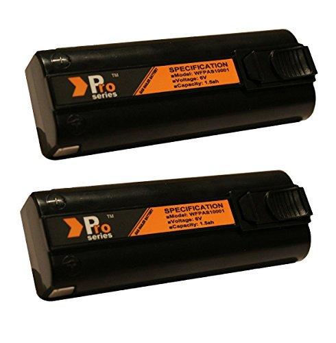 Pro Series Lot de 2 batteries de rechange pour cloueurs Paslode 6 V 1,5 Ah