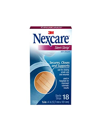 Nexcare steri-strip wound closure, secures and closes small cuts and wounds, alternative to butterfly bandages, 1/2 inch… 1 skin closure secures used in hospitals for improved cosmetic results breathable for added comfort