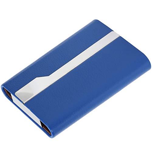 Portatarjetas de nombre comercial, Estuche para tarjetas de cuero de PU de lujo Diseño práctico Ligero Gran capacidad para colocar tarjetas para bolsillo o bolso para hombres y mujeres(blue, 016#)
